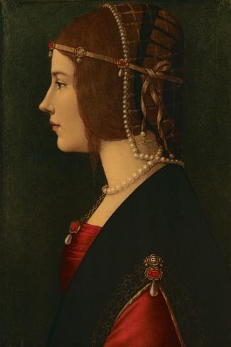 Beatrice D Este Stretched Canvas Print By Leonardo Da