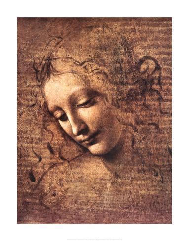 Female Head, La Scapigliata Art Print