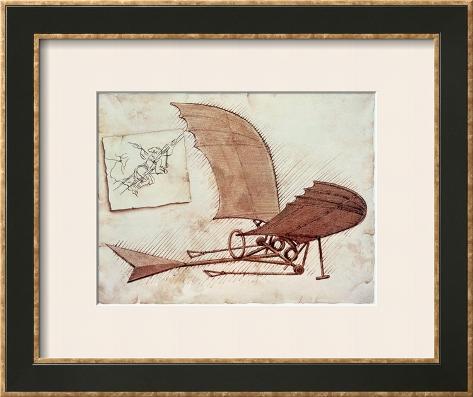 Flying Machine Framed Art Print