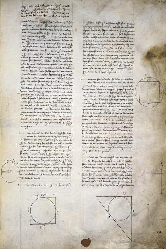 Geometry Studies, from Codex Ashburnham 361 Lámina giclée
