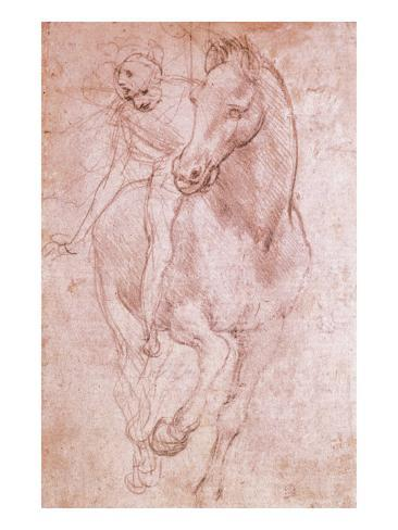 Horse and Rider Giclee Print