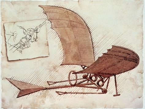 Lentävä kone Giclée-vedos