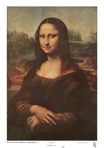 Mona Lisa, c.1507 Art Print
