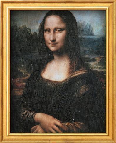Mona Lisa (La Gioconda), c.1507 Arte con textura enmarcado