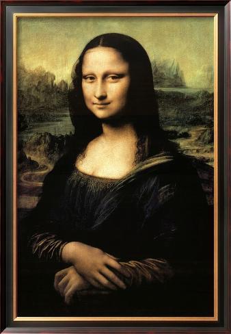 Mona Lisa Framed Poster