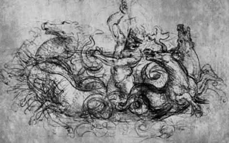 Leonardo da Vinci (Neptune) Art Poster Print Masterprint