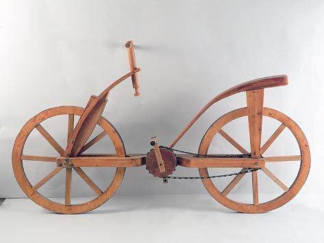 Reconstrucción del diseño de una bicicleta de Da Vinci Lámina giclée