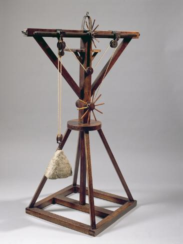 Reconstruction of Da Vinci's Design for a Slewing Crane Giclee Print