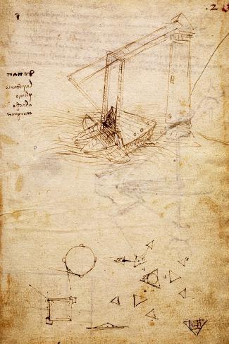 Ship, from Codex Trivulzianus, 1478-1490 Lámina giclée