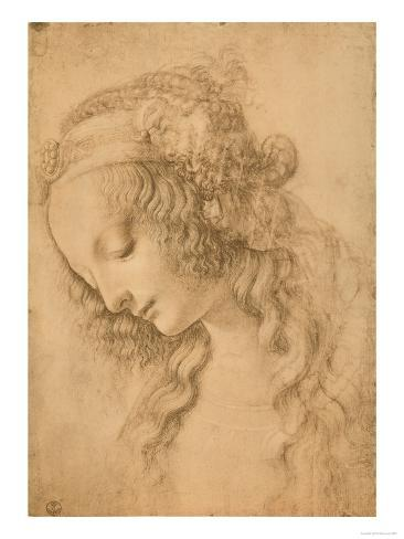 Study for the Face of the Virgin Mary of the Annunciation Now in the Louvre Giclee Print