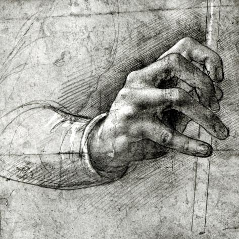 Study of a Hand Lámina giclée