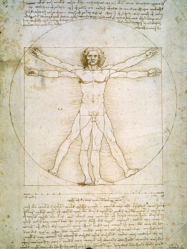 Vitruvian Man, c.1492 Giclee Print