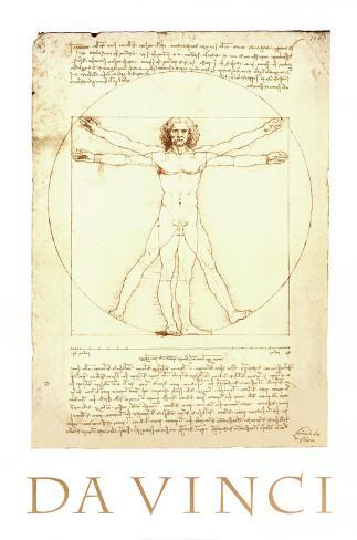Vitruvian Man, c.1492 Art Print