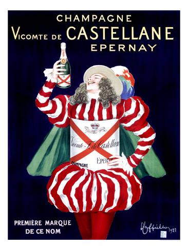 Champagne Vicomte de Castellane Epernay Giclée-vedos