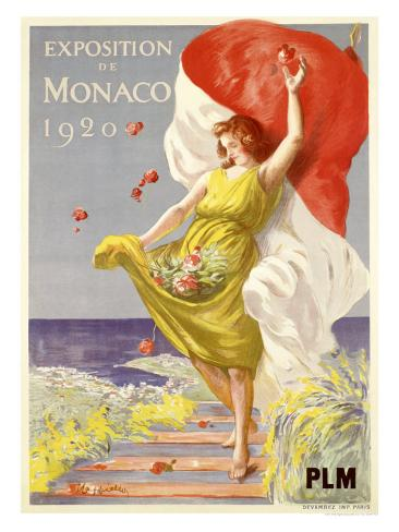 Exposition de Monaco, 1920 Giclee Print