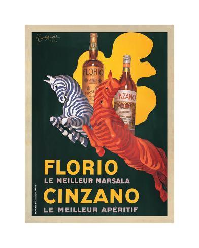 Florio e Cinzano 1930 Giclee Print