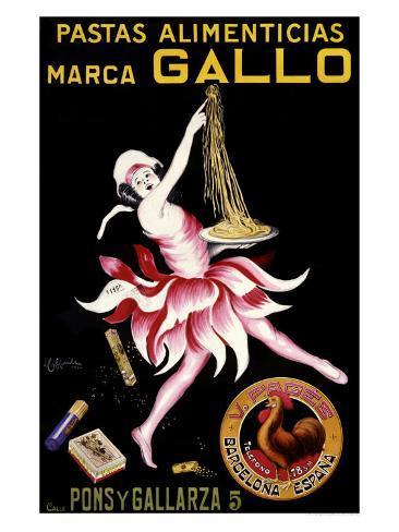 Gallo, Pastas Alimenticias Giclee Print