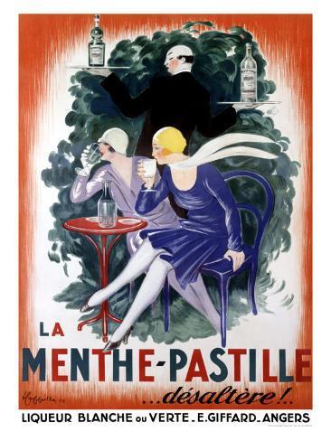 La Menthe-Pastille Giclée-vedos