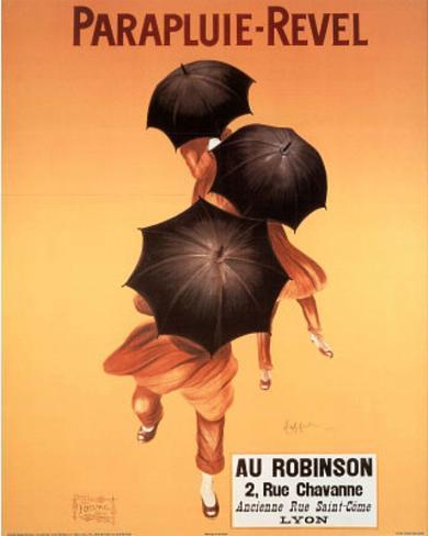 Leonetto Cappiello Parapluie Revel Umbrellas Art Print Poster Mini Poster