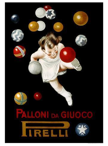 Pirelli Palloni da Giuoco Giclee Print