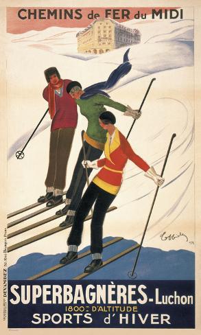 Superbagneres-Luchon, Sports d'Hiver Art Print