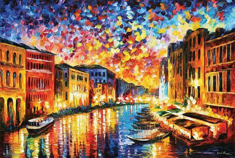 Leonid Afremov - Il Canal Grande, Venezia Poster