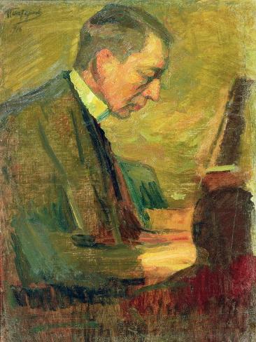 Portrait of Sergei Rakhmaninov, 1916 Giclee Print