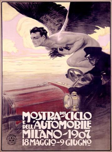 Mostra del Ciclo, Milano, 1907 Giclee Print