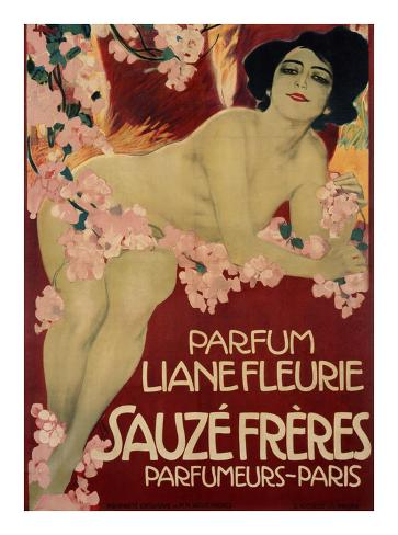 Parfum Liane Fleurie, Sauze Freres Art Print