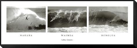 Makaha, Waimea, Honolua Framed Print Mount