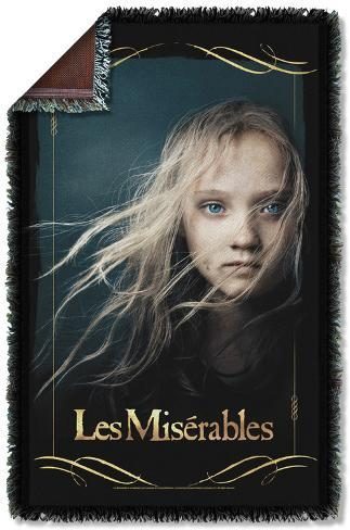 Les Miserables - Girl Woven Throw Throw Blanket