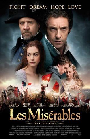 Les Miserables (Hugh Jackman, Russell Crow, Anne Hathaway) Movie Poster Masterprint