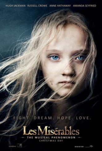 Les Miserables Movie Poster Poster double face