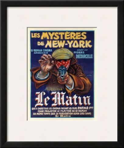 Les Mysteres de New York Impressão artística emoldurada