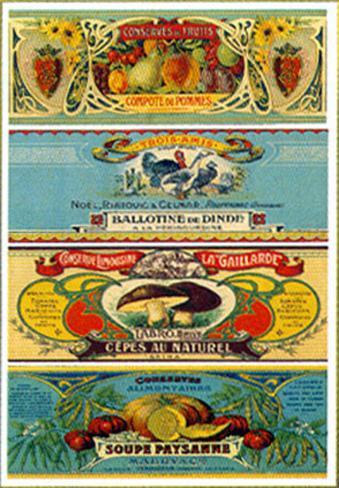 Les Quatre Gastronomie Art Print