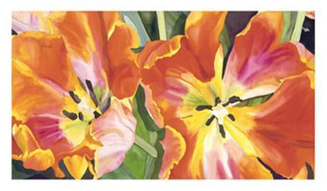 Two Parrot Tulips Giclee Print