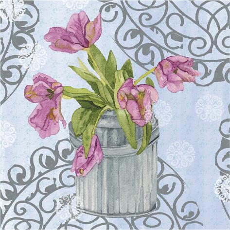 Garden Gate Flowers I Art Print
