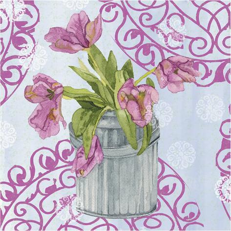 Garden Gate Flowers III Art Print