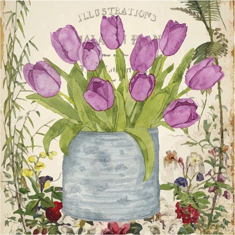 Vintage Tulip Can II Art Print