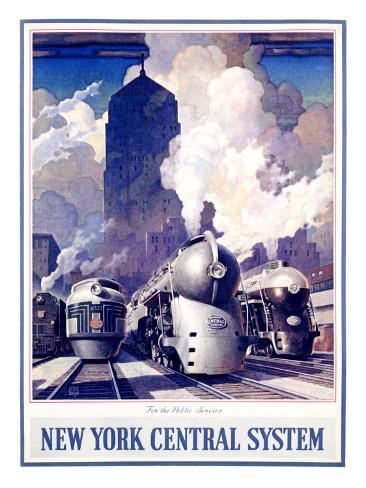 New York, Central Railroad Giclee Print