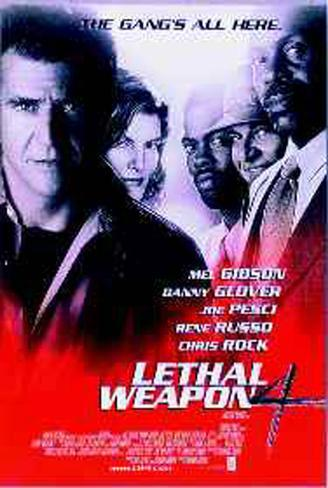 Lethal Weapon 4 Original Poster