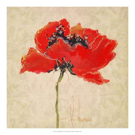 Vivid Red Poppies III Giclee Print