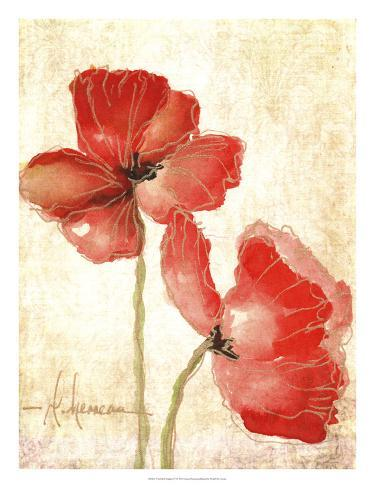 Vivid Red Poppies IV Giclee Print