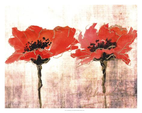 Vivid Red Poppies V Giclee Print