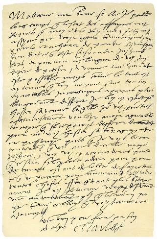 letter to charles v of spain