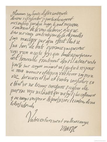 Letter from Mary Queen of Scots, She Signs Herself Marie Giclee Print