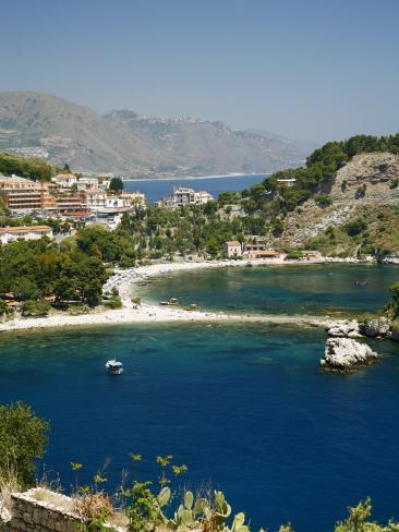 Isola Bella Island and Beach, Taormina, Sicliy, Italy, Mediterranean, Europe Photographic Print