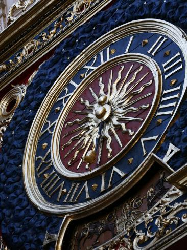Medieval Clock, Old Rouen, Normandy, France, Europe Photographic Print