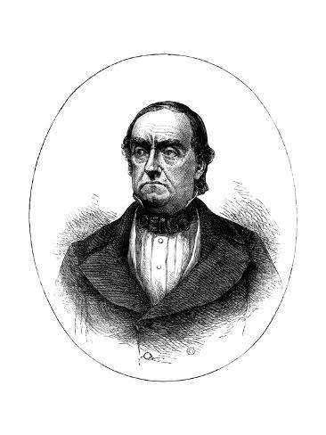 Lewis Cass, American Soldier, Statesman and Historian Giclee Print