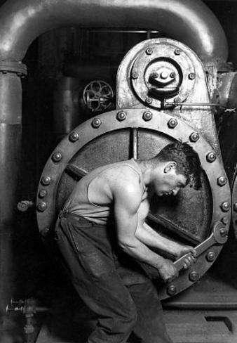 Lewis Hine Powerhouse Mechanic 1920 Photo Art Print Poster Masterprint